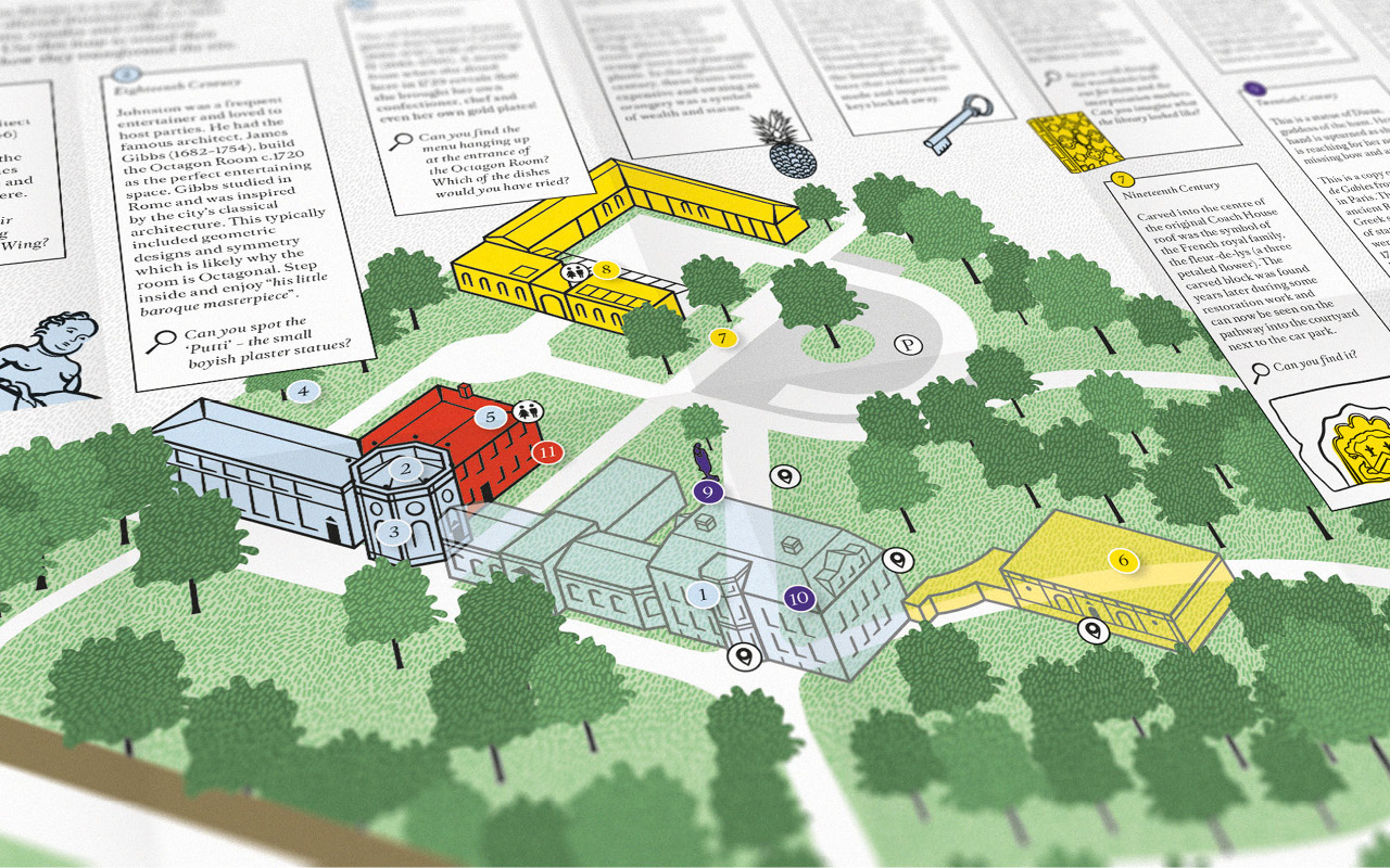 Museum and Gallery map and wayfinding by Altogether Creative.