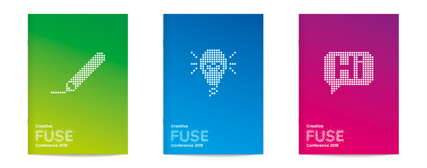 Conference brand and merchandise for Creative Fuse North East by Altogether Creative.