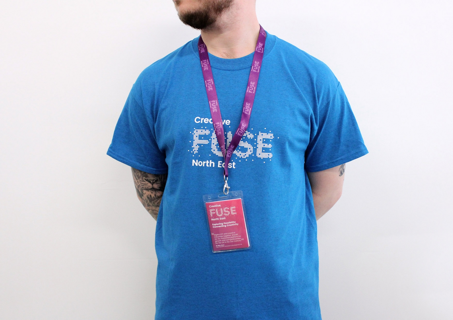 Conference branding and merchandise for Creative Fuse North East by Altogether creative.