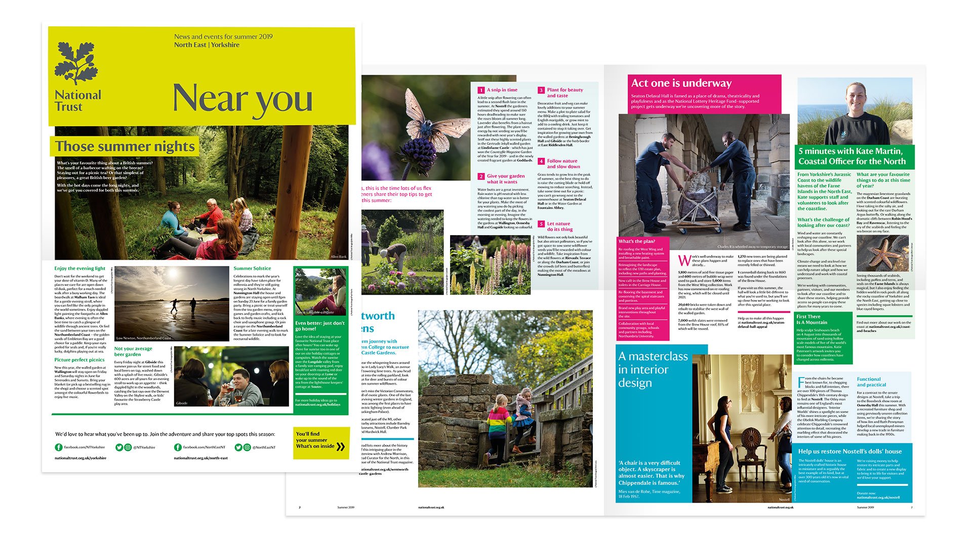National Trust brand newsletter editorial design by Altogether Creative.