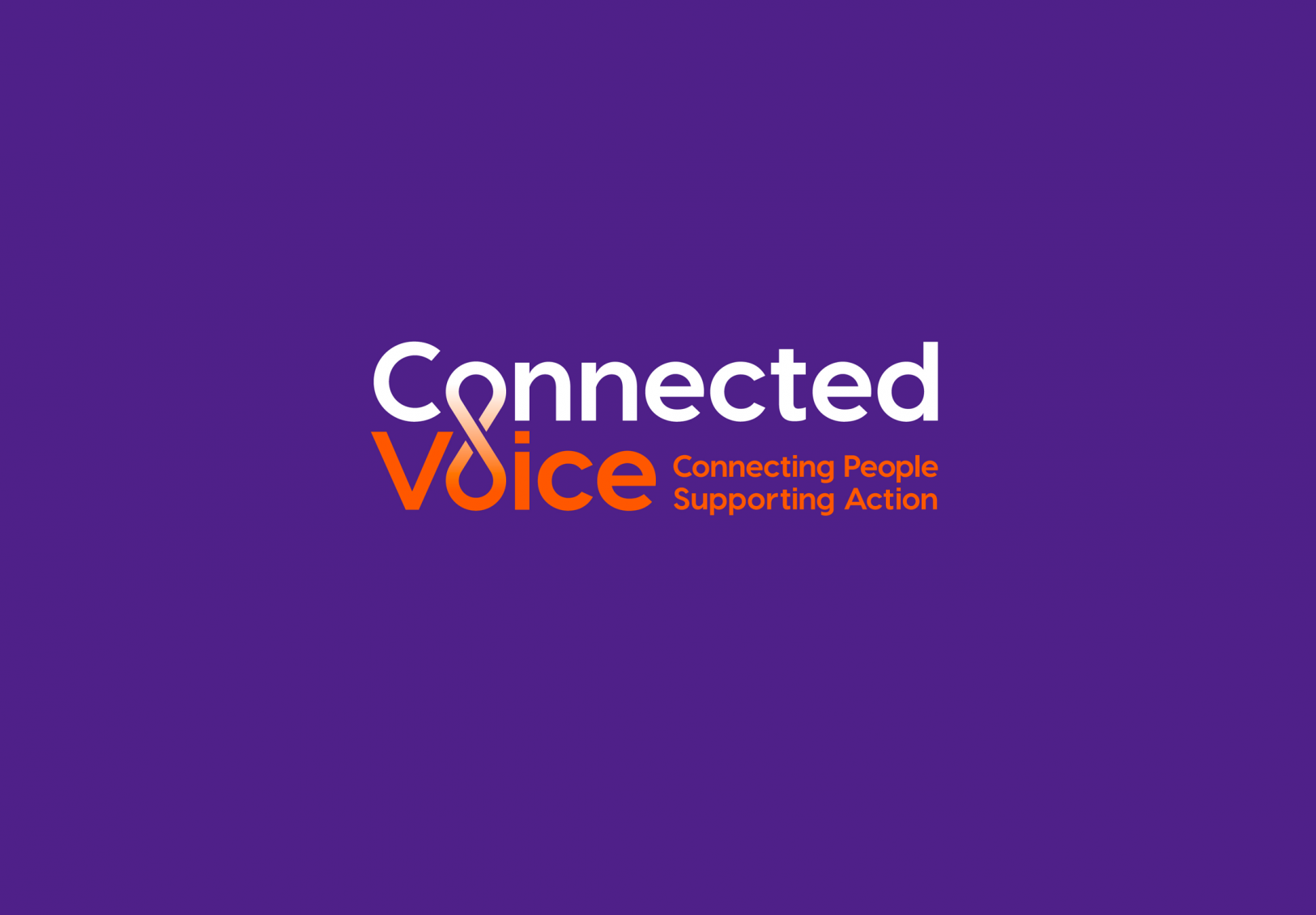 Connected Voice Newcastle charity branding for regional cvs by Altogether creative.