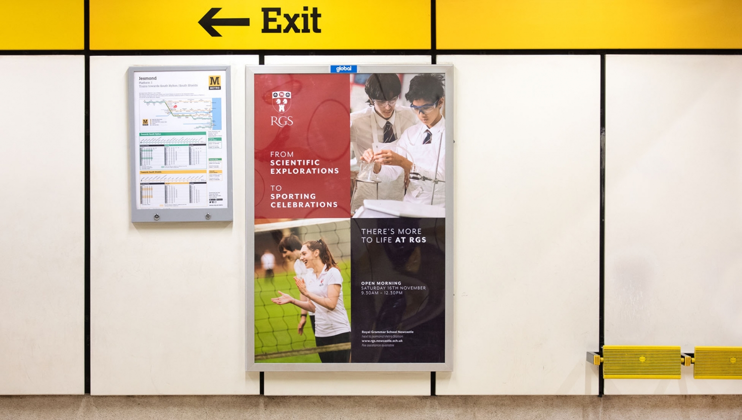 RGS Royal Grammar School Newcastle independent school advertising campaign by Altogether Creative.
