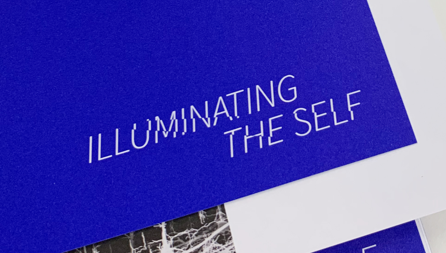 Illuminating the Self at Hatton Gallery and Vane Gallery Newcastle, exhibition identity, brand identity and typography by Altogether Creative.